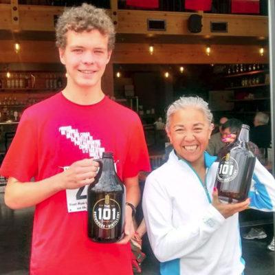 Will Rice and Ginny Blattler, race #2 winners