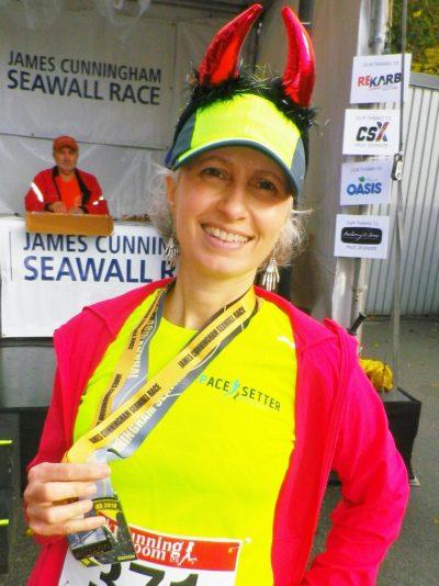 Teresa at the Seawall Race 2018